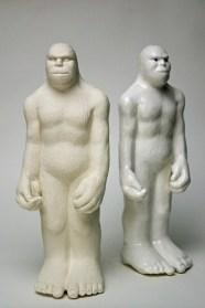 Bigfoot Souvenirs 2012, porcelain, glaze