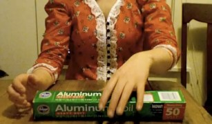 aluminium foil, hands, calexico