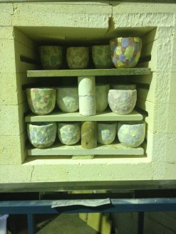 Clay cups before firing