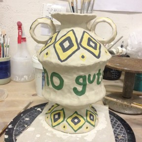 """""""No Guts, No Glory"""" part of a series of trophies examining statements of achievements (in progress)"""