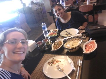 Krupa and I FEASTED at an Indian restaurant in town. We'll be back for sure.