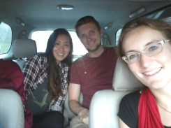 My cousin Jake and his girlfriend, Hyewon, living the Uber life during their brief stay in Surabaya.