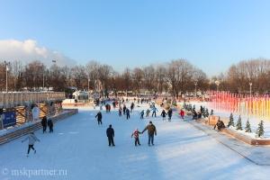 Каток в Парке Горького в Москве