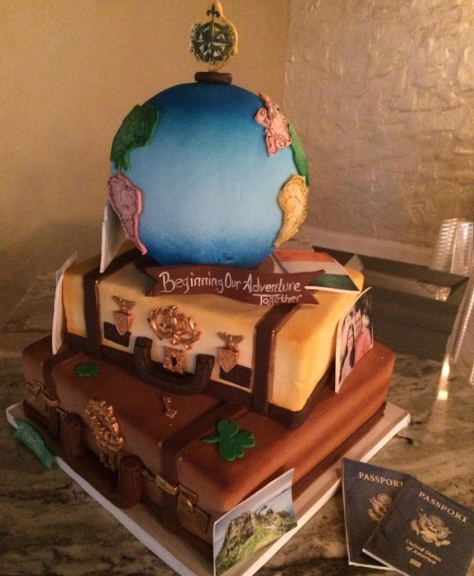 travel grooms cake
