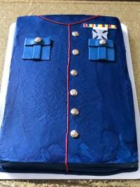 Marine grooms cake