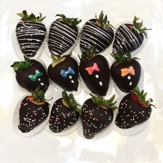 decorated choc. strawberries