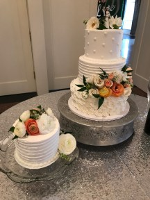 multi textures of buttercream at the Mansion at Woodward park