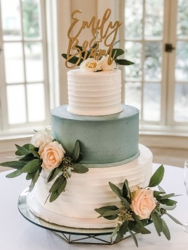 dusty blue and textured buttercream
