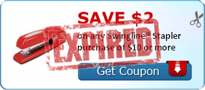 Save $2.00 on any Swingline® Stapler purchase of $10 or more