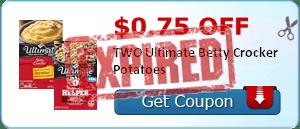 $0.75 off TWO Ultimate Betty Crocker Potatoes