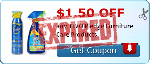 $1.50 off any TWO Pledge Furniture Care Products