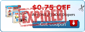 $0.75 off Any ONE (1) DOLE Dippers