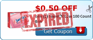 $0.50 off one (1) Sweet'N Low 100 Count Box