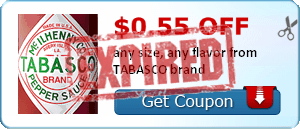 $0.55 off any size, any flavor from TABASCO brand