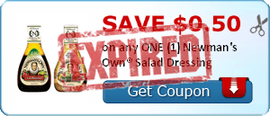SAVE $0.50 on any ONE (1) Newman's Own® Salad Dressing
