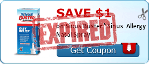 SAVE $1.00 on Sinus Buster® Sinus & Allergy Nasal Spray
