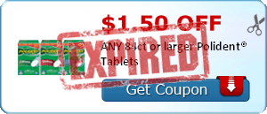 $1.50 OFF ANY 84ct or larger Polident® Tablets
