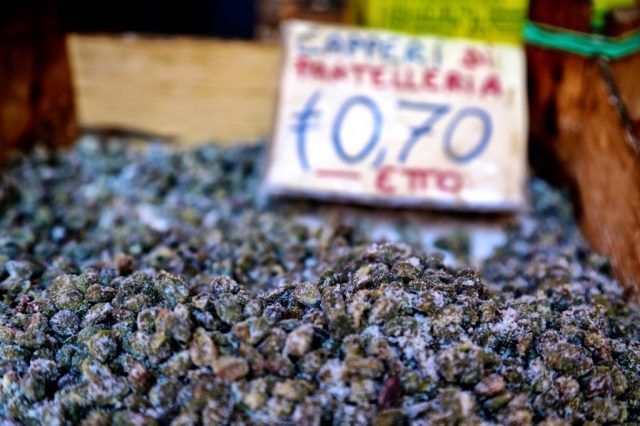 Salted capers, Palermo, Sicily
