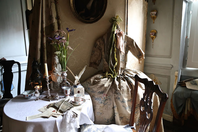 bedroom at MsMarmitelover's 18th century tea party at Dennis Severs house, 18 Folgate St, Spitalfields, london,