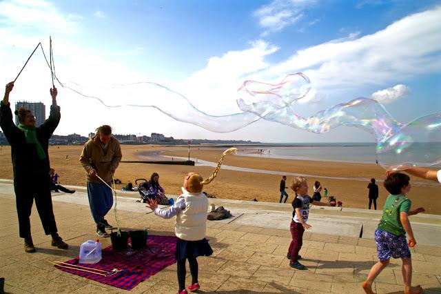 Margate beach bubbles