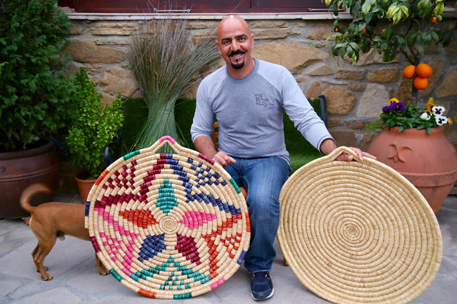 Petros the basket weaver, Cyprus pic: Kerstin Rodgers/msmarmitelover.com