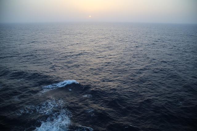 sunrise.  Britannia, P and O cruise ship. pic: Kerstin Rodgers/msmarmitelover