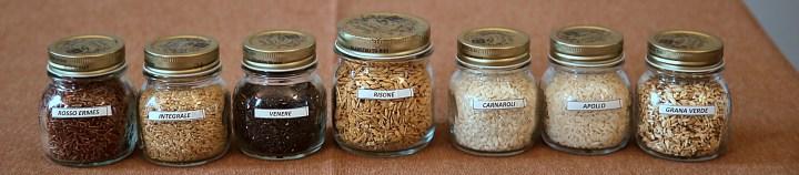 Selection of Piedmont rice, Italy Pic: Kerstin Rodgers/msmarmitelover.com