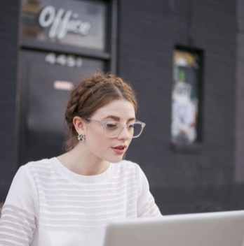 Braids, Polette, Clear Frame, Office Vibes, Laptop, Butterfly, Coffee Shop, Caffe Vita, Los Angeles Blogger, Blogging, Healthy Lifestyle, Eye Protection, Translucent frames, E-Polette, fashion blogger, Office Space, Silverlake, Coffee Break