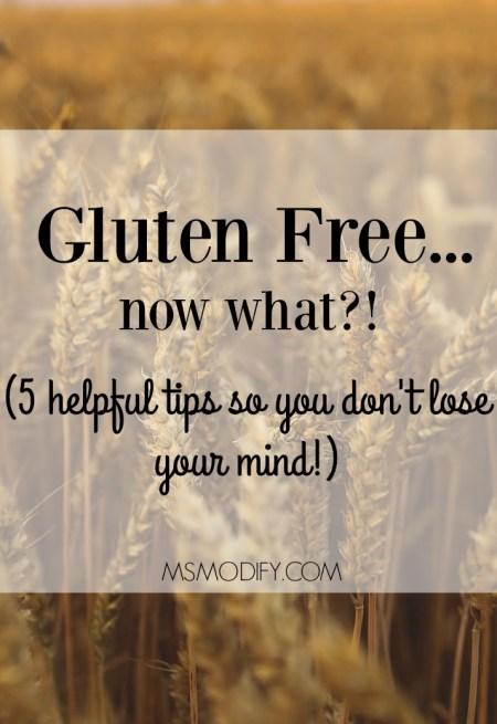 Gluten Free now what?