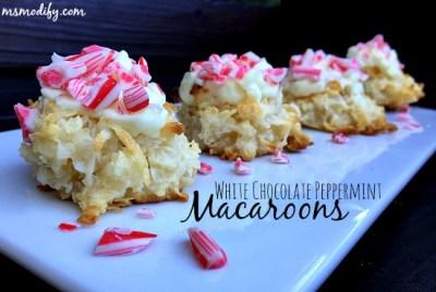Peppermint macarrons