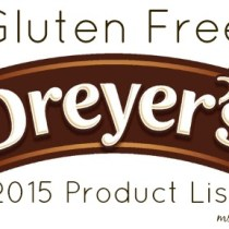 gluten free Dreyers list 2015