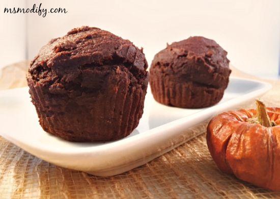 2 ingredient gf pumpkin muffins