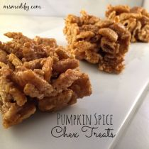 pumpkin spice Chex treats
