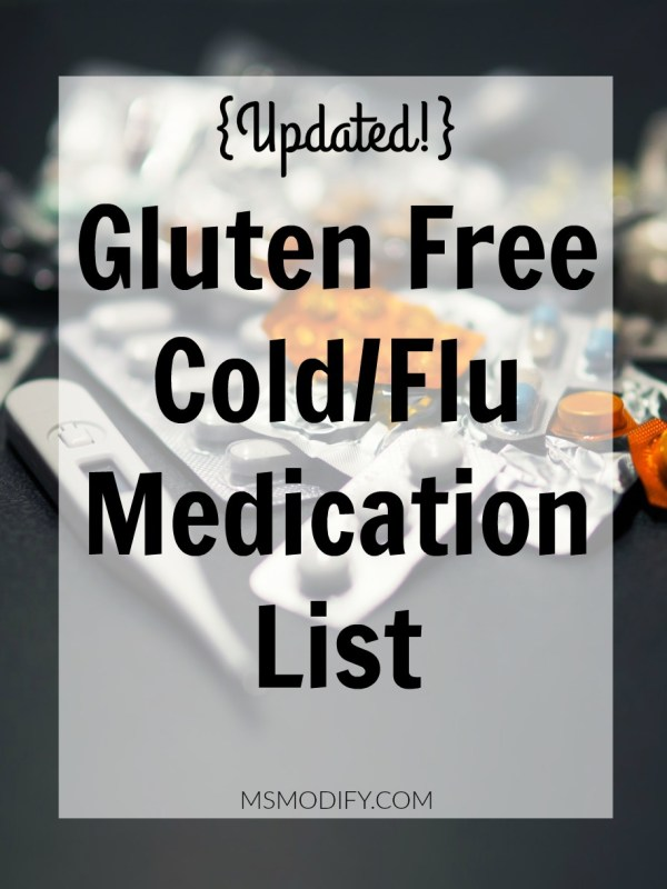 Gluten Free Cold/Flu Medication List