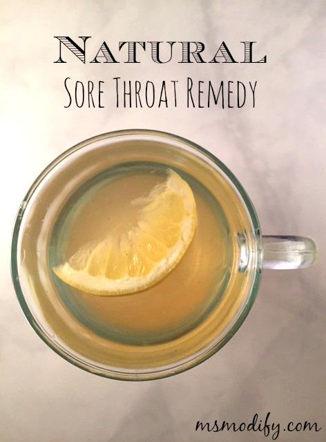 Natural Sore Throat Remedy - MsModify