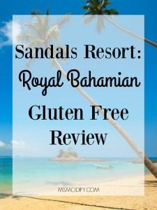 Sandals Resort Gluten Free Review