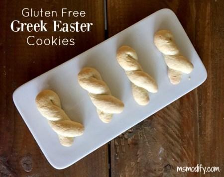 gluten free Greek Easter Cookies