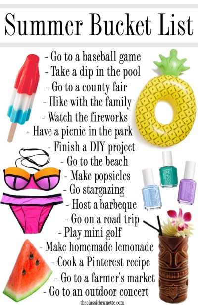 Ultimate Summer Bucket List 2016