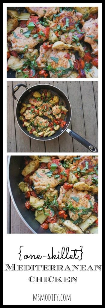 gluten free one-skillet mediterranean chicken