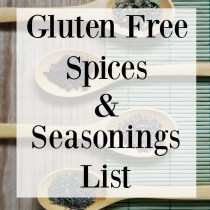 Gluten Free Spices and Seasonings List