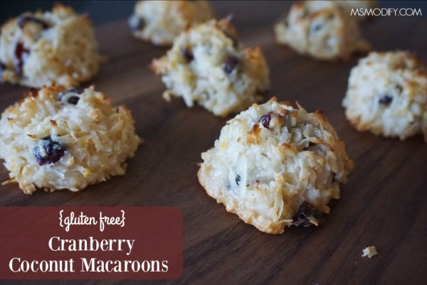 gluten free cranberry coconut macaroons
