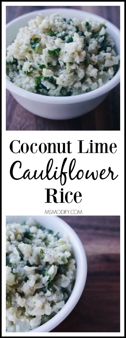 coconut lime cauliflower rice