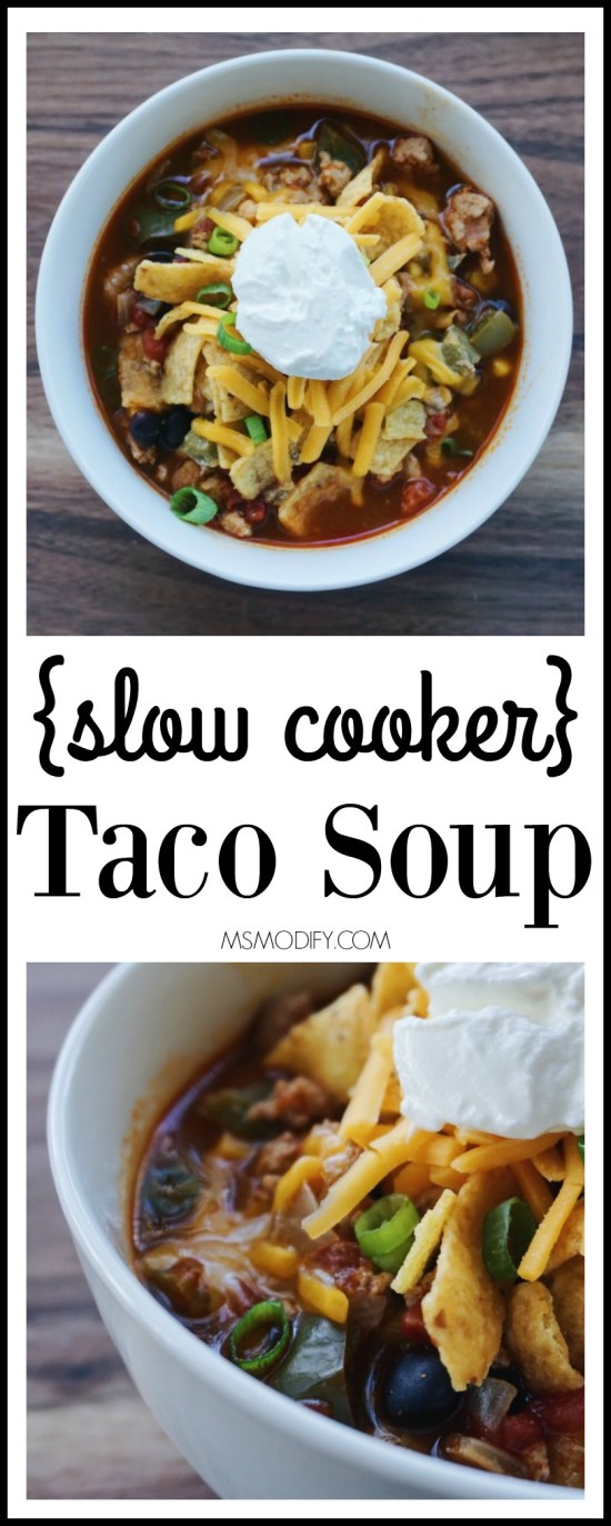slow cooker & gluten free taco soup