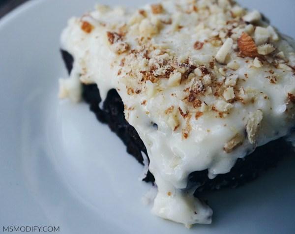 Gluten Free Almond Joy Poke Cake