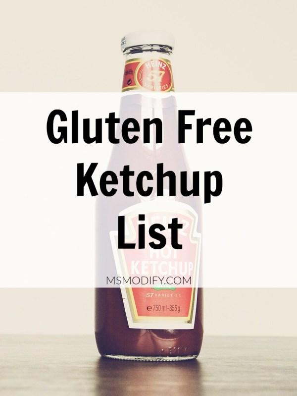 Gluten Free Ketchup List