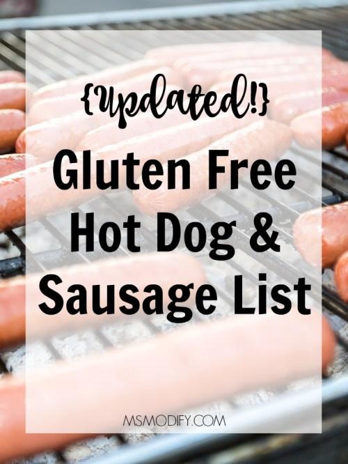 Gluten Free Hot Dog and Sausage List