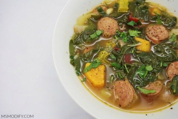 Sausage Sweet Potato Chard Soup