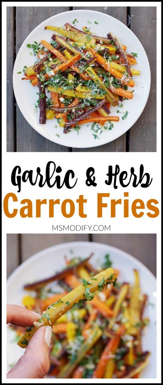 Garlic & Herb Carrot Fries