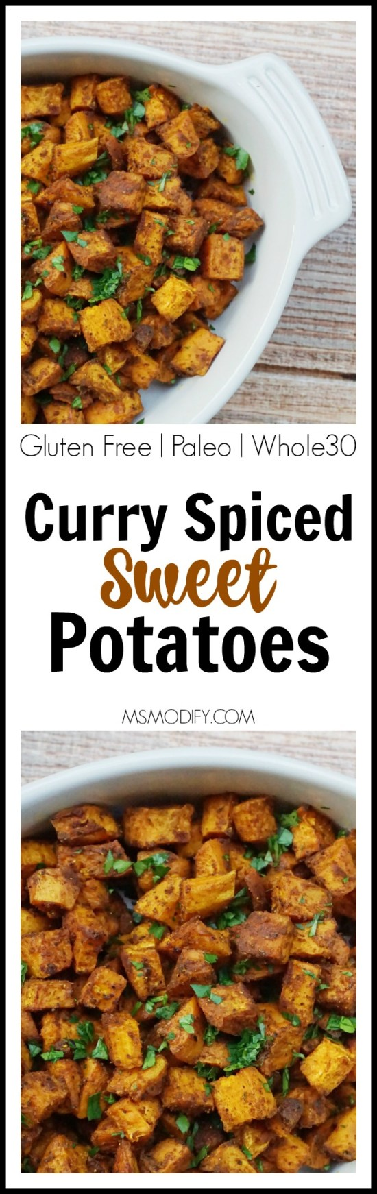 Curry Spiced Sweet Potatoes