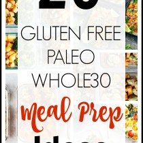 20 Gluten Free/Paleo/Whole30 Meal Prep Ideas